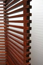 wood slat mid century modern solid wood slat room divider screen