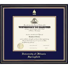 of illinois diploma frame of illinois at springfield 8 5x11 prestige diploma frame