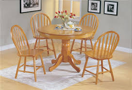 elegant round oak kitchen table with furniture home design ideas