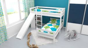 Bunk Beds For Three Bedding Loft With Slide White Bunk Bedroom Design Make And