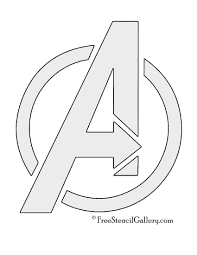 avengers logo stencil party pinterest stenciling logos and