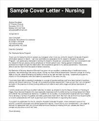 Sample Cover Letter For Nursing Resume by Sample Resume Cover Letter 7 Examples In Word Pdf