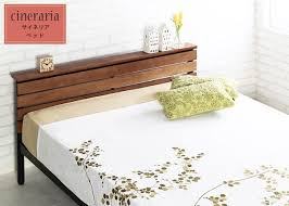Wooden Bed Frame Double by Lamp Tyche Rakuten Global Market Cineraria Bed Frame Double