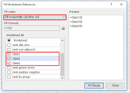 how to quickly rank data across multiple ranges and sheets in excel
