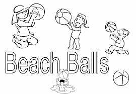 kids playing beach ball coloring pages coloringstar