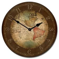 17th century map wall clock gorgeous only at tbcs