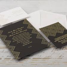 modern deco foil invitation invitations by dawn
