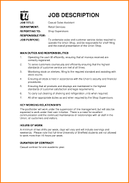 Sales Associate Duties Resume Captivating Resume For Retail Assistant Position About Sales