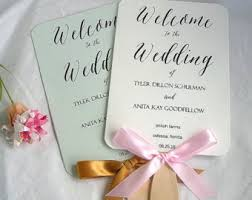 Program Fans Wedding Wedding Program Fan Wedding Hand Fan Best Day Ever Order