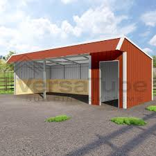 Lean To Barns Barn Or Loafing Shed Building Kits