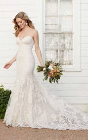 Strapless Wedding Dress Strapless Fit And Flare Wedding Dress Martina Liana