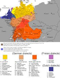 Printable Map Of Germany by German Dialects Wikipedia