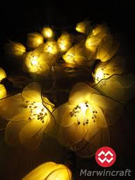 20 yellow rain lilly flower fairy string lights hanging wedding