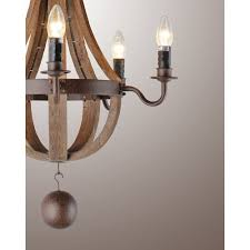 French Country Wooden Chandeliers 21