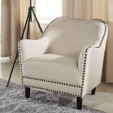 Beige Accent Chair Dane Fabric Club Chair By Christopher Home Free Shipping