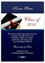exles graduation invitation announcement blue word