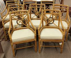 Bamboo Dining Room Chairs Bid In Online Auctions Liveauctioneers