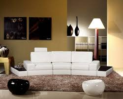 Modern White Bonded Leather Sectional Sofa Tosh Furniture Modern White Sectional Sofa Furniture