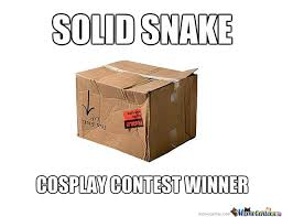 Cardboard Box Meme - solid snake cosplay contest winner by nothing2144 meme center