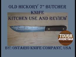 hickory kitchen knives hickory 7 butcher knife kitchen use and review by ontario