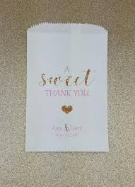 wedding treat bags a sweet thank you wedding candy bag wedding candy buffet candy