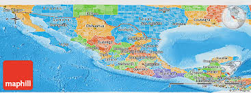 political map of mexico political panoramic map of mexico