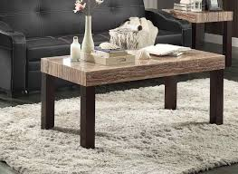 homelegance robins cocktail coffee table dark cherry with faux