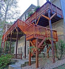 planning and building wood deck stairs with landing