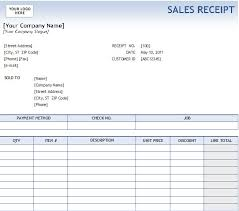 Invoice Template On Excel Receipt Template Excel