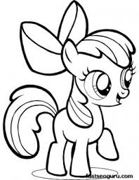 printable pony friendship magic apple bloom coloring