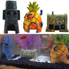 spongebob pineapple krusty krab house ornament cave for