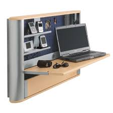 Wall Laptop Desk Small Wall Mounted Laptop Desk Wooden With Trays Minimalist Desk
