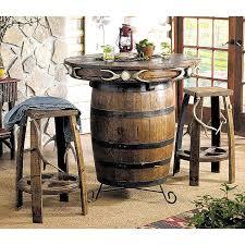Barrel Bar Table Camo Furniture Antler U0026 Barrel Pub Table U0026 Bar Stools Camo Trading