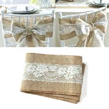 lace chair sashes burlap wedding chair sashes bazaraurorita ideas to make