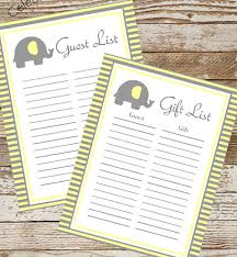 list of baby shower baby shower gift list template ba shower guest list template 8