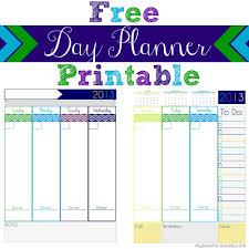 cute daily planner template 2013 day planner free printable