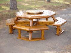 Exteriors Recycled Plastic Picnic Tables Cedar Hexagon Picnic by Round Picnic Table Plans Woodworking Pinterest Round Picnic
