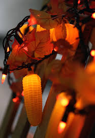 maple leaf garland with lights 9 foot harvest garland 50 lights maple leaves corn and pumpkins