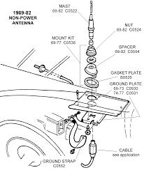 1969 82 non power antenna diagram view chicago corvette supply