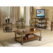 End Table With Charging Station by Furniture Ashley Occasional Table Set Cherry End Tables With