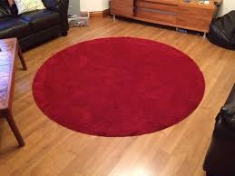 ikea red round carpet adum 195cm 9 85kg for 10 in sheffield