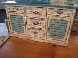 shutter sideboard distressed cabinet tv stand buffet cottage ebay