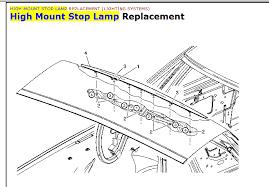 cts third brake light repair how do i change 3rd brake light on 2006 dts