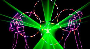 glow show laser led glow act led light performers led glow show