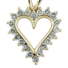 diamond heart gold necklace images 57 diamond heartbeat necklace rare colored diamonds pink heart jpg
