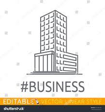 hashtag business building big company sketch stock vector
