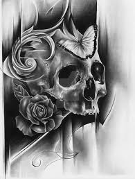 butterfly skull by joshuabeatson on deviantart