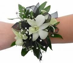 white orchid corsage white orchid wrist corsage in akron pa roxanne s flowers