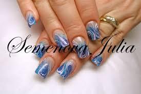 fingern gel design vorlagen nägel muster yulia 2014 blau fanatisch nageldesign bilder by