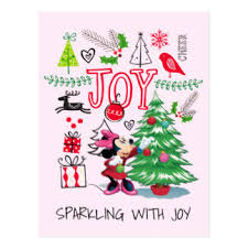 Minnie Mouse Christmas Decorations Minnie Mouse Postcards Zazzle